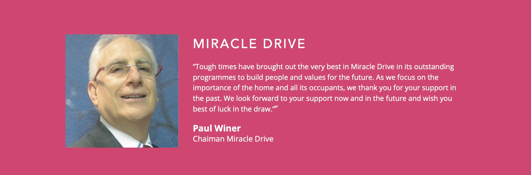 Miracle Drive Testimonial